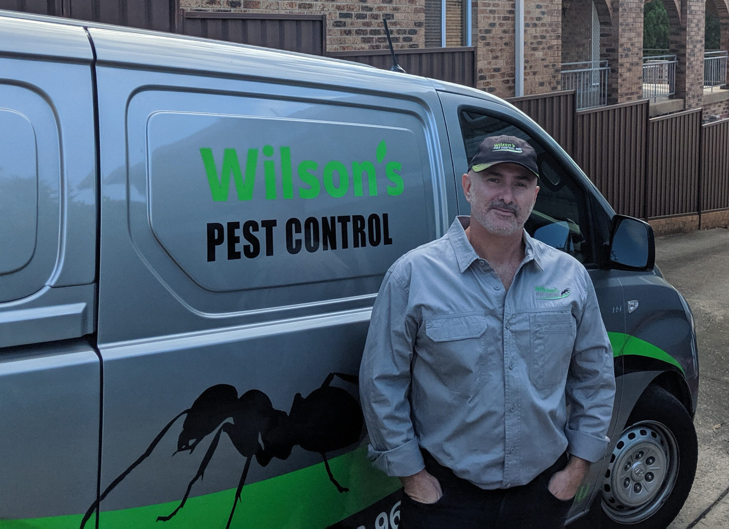 Henry of Wilsons Pest Control Gold Coats